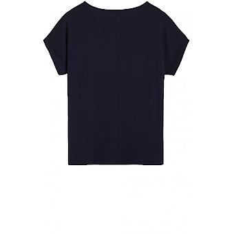 Sandwich Clothing Navy Silky Front Top