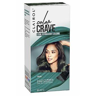 Clairol Color Crave Semi Permanent Hair Colour 15+ Washes 60ml Teal