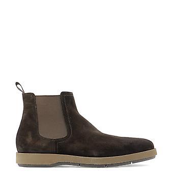 Santoni Mgdt16836hb1esyat50 Men's Brown Suede Ankle Boots