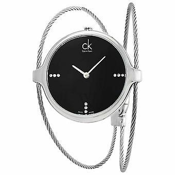 Calvin Klein K2Z2M11S Agile Diamond Black Dial Ladies Watch