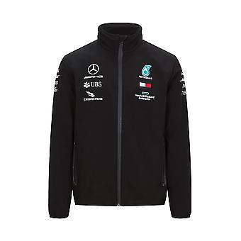 Mercedes AMG Petronas Men's Softshell Jacket   Black   2020