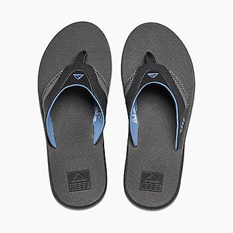 Reef Water Friendly Mens Sandals with Bottle Opener ~ Fanning grey blue