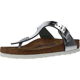 Sandálias Birkenstock Gizeh Ni Color Met Silver