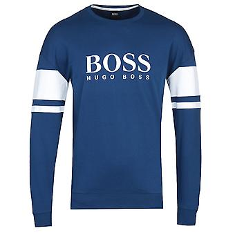 BOSS Authentic Block Stripe Deep Blue Sweatshirt