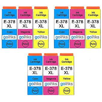 3 Ensemble de 3 cartouches d'encre pour remplacer Epson 378XL C/M/Y Compatible/non-OEM de Go Inks (9 Encres)