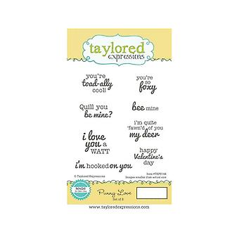 Taylored Expressions - Cling Stamps - Punny Love