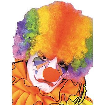 Parrucca afro arcobaleno per adulti