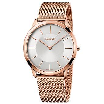 קלווין קליין K3M2T626 מינימלי קוורץ כסף חיוג גברים ' s שעון