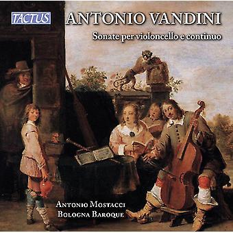 Vandini / Bologna Baroque Ensemble / Mostacci - Cello Sonata 1-6 [CD] USA import