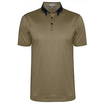Lanvin Beige Grosgrain Slim Fit Pique Polo Shirt