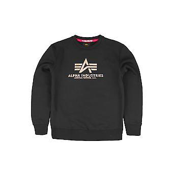Alpha Industries Men's Sweatshirt Basic Foil Print