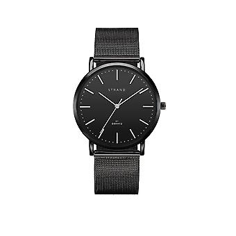 Strand By Obaku S702GXBBMB Hudson-Charcoal Black Mesh Wristwatch