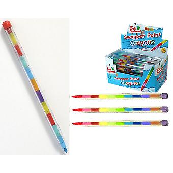 Single Swopper Point Crayon Party Bag Fillers | Kids Stationery Back to School