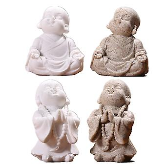 Sandstone Little Monk Statue Figurine