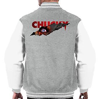 Chucky Menacing Eye Men's Varsity Jacket