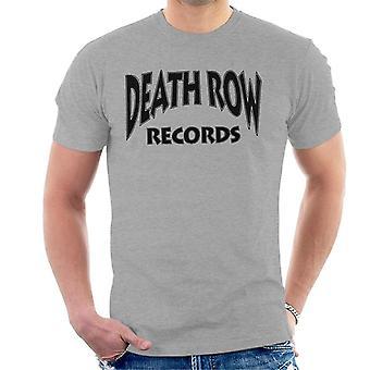 Death Row Recrods Logo Black Men's T-Shirt