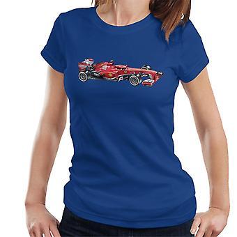 Motorsport kuvia Ferrari F138 Side luonnos naisten ' s T-paita