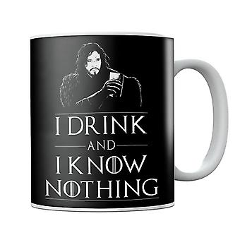 Jon Snow I Drink And Know Nothing Game Of Thrones Mug