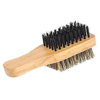 Men's partaharja kaksipuolinen - Kasvojen hiusten harja parranajo kampa miehille