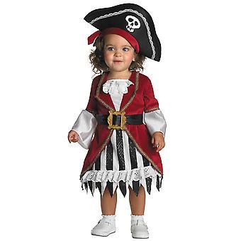 Pirate prinsessa Carribbean tarina kirja viikon taapero tyttöjen puku 12-18 kuukautta