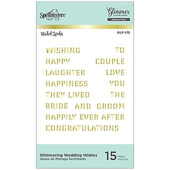 Spellbinders Glimmering Wedding Wishes Hot Foil Plates