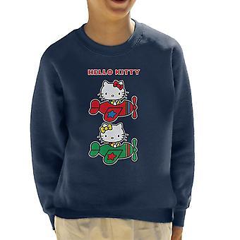 Hallo Kitty und Mimmy fliegende Kid's Sweatshirt