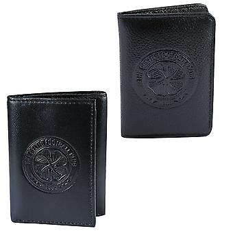 Celtic FC Mens Wallet Travel Leather Embossed Crest OFFICIAL Football Gift