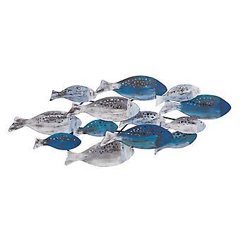 FHB6563, Danya B. School of Fish Modern Metal Wall Art Perfect for Coastal, Nautical, Beach, or Boat Dcor
