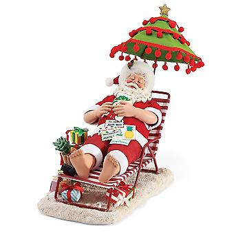 Possible Dreams Tropical Snooze Santa Claus Figurine
