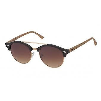 Sunglasses Unisex Cat.3 matt black/brown (19-193)