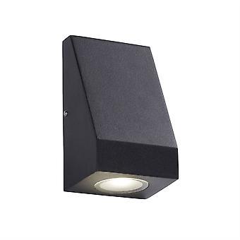 Zoeklicht Outdoor - Geïntegreerde LED 1 Licht Buitenmuur licht geschuurd zwart, mat IP44