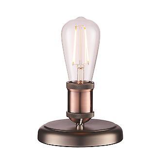 Endon Hal - 1 lichttafellamp aged pewter, aged koperen plaat, E27
