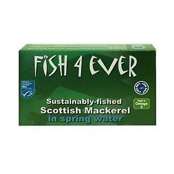 Fish 4 Ever - Mackerel in Spring Water 125g