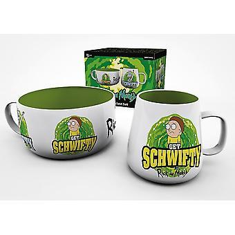 Rick en Morty Get Schwifty Reverse Breakfast Set