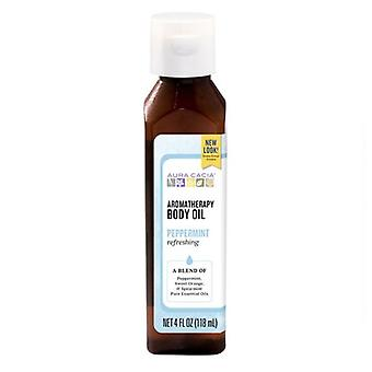 Aura Cacia Harvest Aromatherapy Body Oil, Peppermint 4 oz