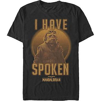 Kuiil I Have Spoken The Mandalorian Star Wars T-Shirt