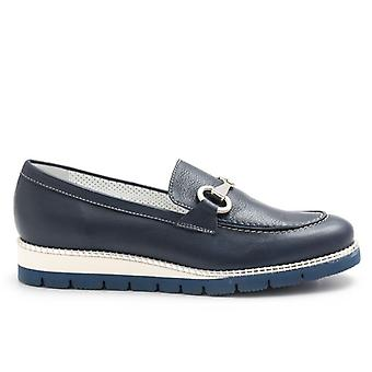 Alfredo Giantin Blue Loafers mit Klemme