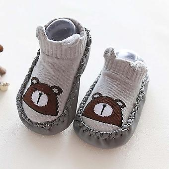 Winter-Baumwoll-Schuhe - Neugeborene Baby Cartoon Tier Anti-Rutsch Socken