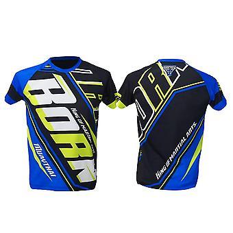 T-Shirt Muay Thai Top Thai Boxing MMA Sport Wear Unisex - (Blue)