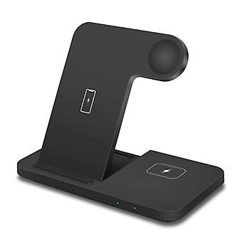 DCAE 3 in 1 Charging Station for Apple iPhone / iWatch / AirPods - Charging Dock 15W Wireless Pad Black