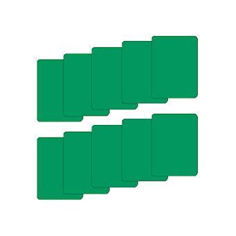 Sarja 10 vihreää muovi pokerin kokoa leikatut kortit