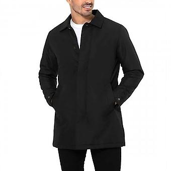 Threadbare Mac Dumfries Padded Longline Jacket Black