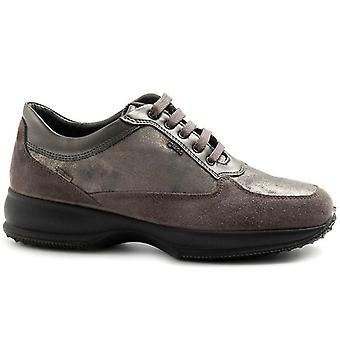 Női cipő szürke és ezüst velúr és Gore-tex