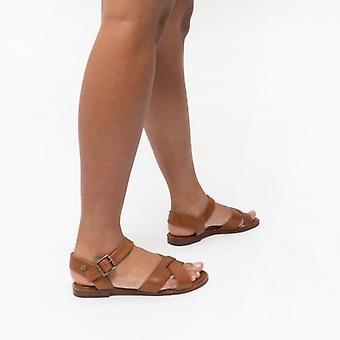 Hush Puppies Lila Ladies Leather Sandals Tan
