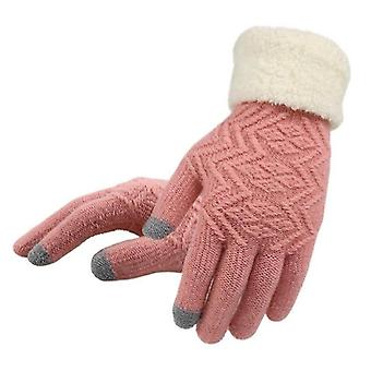 Winter Touch Screen Knitted Wrist Gloves Driving