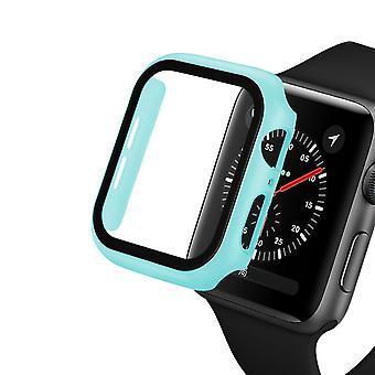 Reloj cubierta caso Apple reloj marco de parachoques con película de protector de vidrio