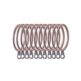 24pcs 3.8*3.8cm Metal Curtains Rings Hanging Rings for Curtains Red Bronze