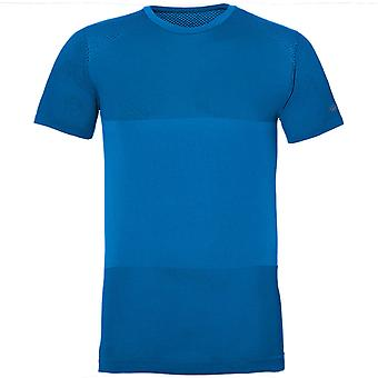 Asics fuzeX Nahtloses T-Shirt Gym Training Running Top Blue 141239 0819