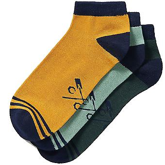 Crew Clothing Mens 3 Pack Everyday Trainer Socks