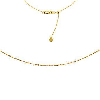 "Two Tone Saturn Kette Choker 14k gelb Gold Kette, 16"" einstellbar"